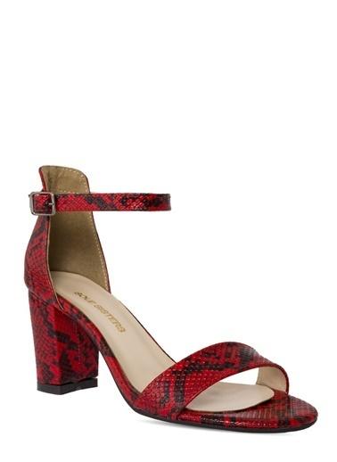 Sole Sisters Topuklu Sandalet Kırmızı Yılan - Ada Kırmızı